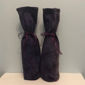 Other - Purple wine bags upcycled from jeans - set of 2